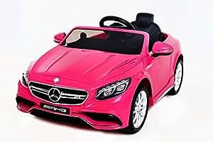 mercedes s63 amg voiture jouet lectrique pour enfant deux moteurs pink licence mercedes. Black Bedroom Furniture Sets. Home Design Ideas