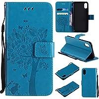 iphone X Hülle Blau im Retro Wallet Design,Cozy Hut iphone X Hülle Leadertasche Premium Lederhülle Flip Case im... preisvergleich bei billige-tabletten.eu