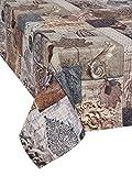 1KDreams Tischdecke 140x240 aus 100% Baumwolle. Elegantes und raffiniertes Design von Shabby Chic Touch in modernem Key. Made in Italy