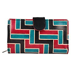Anekaant Natura Women Genuine Leather Black and Multicolor Wallet