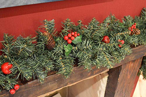 Guirnalda de Navidad para escaleras de chimenea, guirnaldas de Navidad,...