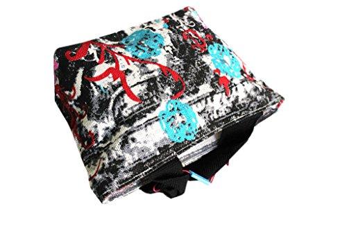 Borsetta mare Gian Marco Venturi moda mare l.strisce 44383 nero