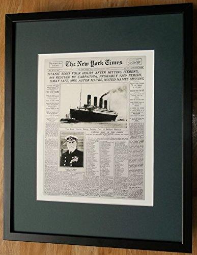 Titanic Druck, Titanic Erinnerungsstücke , 20''x16 '' montiert und gerahmt, Titanic Poster (Landwirtschaft Gerahmte Kunst)