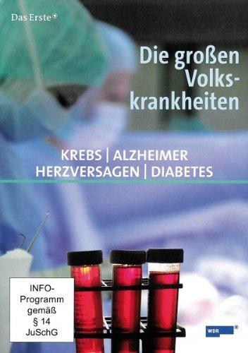Schuber DIE GROSSEN VOLKSKRANKHEITEN (Krebs, Herzversagen, Diabetes, Alzheimer) 4 DVDs, Gesamtlänge: ca. 180 Minuten