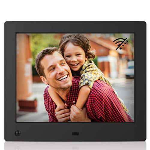 NIX Advance Digitaler Bilderrahmen 8 Zoll (4:3). 1024x768 Pixel IPS Display Fotos und Videos. Uhr/Kalender. Auto On/Off (Bewegungssensor). Auto Drehung. Intuitive Fernbedienung