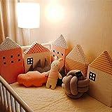 Nursery Decor Cradle 4Pcs / Lot Combinazione House Bed Paraurti confortevole Protect Newborn Culla Intorno Cuscini Paraurti in castella