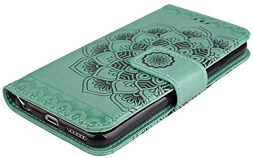 Coque Apple iPhone 6 , iPhone 6 coque silicone, Roreikes Housse Etui pour iPhone 6 nouvelle boutique Folio portefeuille / portefeuille étui en cuir PU de haute qualité cuir [impression de choc] style  Vert