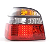at72096 LED – Faros traseros para Volkswagen Golf 3 Tipo 1HXO Bj. 92 – 97 transparente/rojo