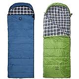 Grand Canyon Valdez - XL Deckenschlafsack, besonders weich und angenehm durch Baumwoll-Flanel im Innenbezug, 3-Jahreszeiten, Extrem: - 20°, für Camping, Outdoor, Festival, verschiedene farben