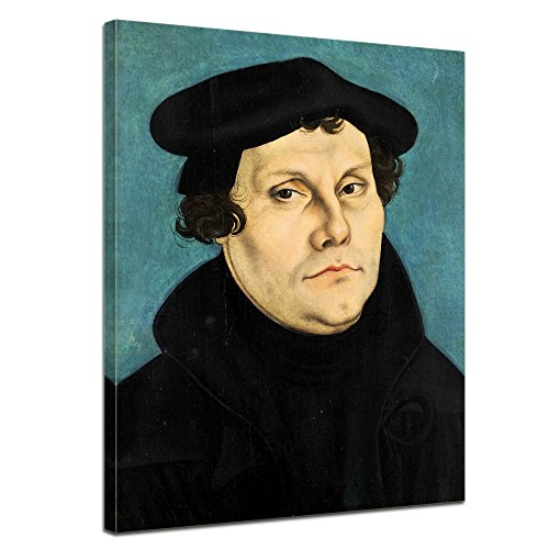 Leinwandbild - Martin Luther - Lucas Cranach - Martin Luther 1528 - 90x120cm XXL einteilig - Alte Meister - Bilder als Leinwanddruck - Kunstdruck - Leinwandbilder - Bild auf Leinwand - Wandbild von Bilderdepot24