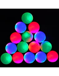 15-piece Super Bright Night Flyer Glowing LED Golf Ball (Red) by ACEVER