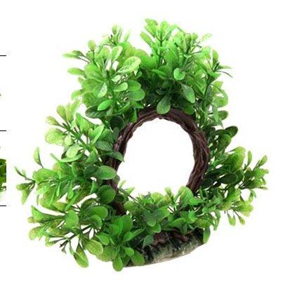 SUUNHH Wasserpflanzen für Aquarium Simulation Landschaft Dekoration Deko Treibholz Arch Baum, arch Milan grün