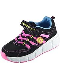 Zapatillas con ruedas automáticas para niños - Mod. 166 - Rosa - Varias tallas