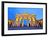 artboxONE Poster mit Rahmen Schwarz 75x50 cm Brandenburger Tor von AB1 Edition - gerahmtes Poster