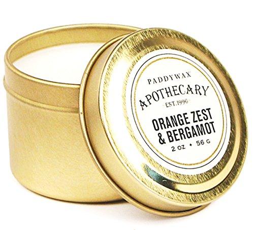 Paddywax Bougie de Voyage Ambre et fumée 5 g, Orange Zest & Bergamot, 2-Ounce