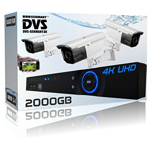 Dvs-Alemania--Profesional-4-K-vdeo-Sistema-de-seguridad-con-4-K-Bullet-cmaras-2000-GB-Disco-Duro--dvlbes800132000
