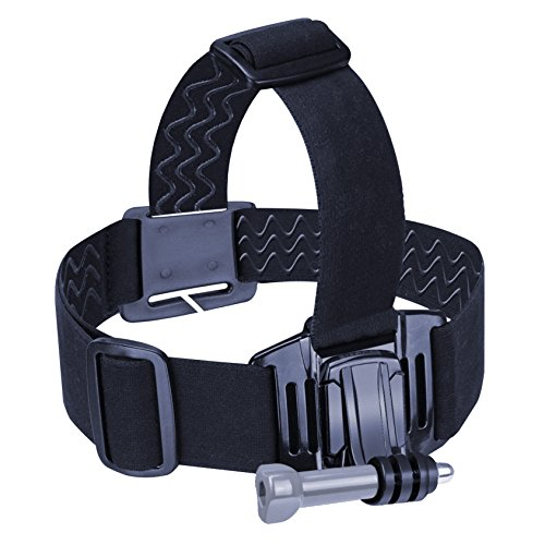 USA Gear Adjustable Head Strap Harness/Headband Mount with Quick Release, Elastic Band & Adapters for GoPro, Plus Tripod Screw Adapter for Action Cameras, Video Camcorders & Digital Cameras