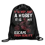 Etryrt Coulisse Sacchetto,Sacca Coulisse Zaino,Sacca Sportiva, Motocross Is Not Just A Hobby Cool Drawstring Backpack String Bag