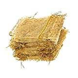 Giveet 100 pezzi champagne ciglia sacchetti regalo in organza, sacca con cordino sacchetti di gioielli, caramelle sacchetto di cioccolato della festa di nozze favor Gift bag, 4,7 x 3,5 pollici