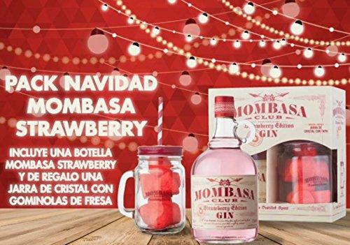 Mombasa Strawberry Pack Navidad con jarra y bote de gominolas