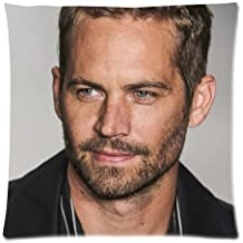 Custom Paul Walker Poster Pattern Pillowcase Print on Two Sides High Quality Pillow Case 18*18 Inch