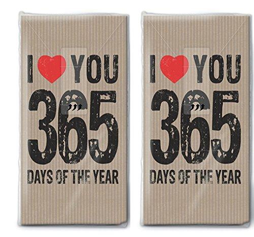 20 Taschentücher (2x 10) 365 Tage / Hochzeit / Freudentränen