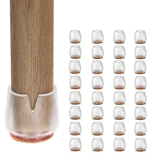 32PCS Stuhl-Bein-Kappen, Möbel-Tabellen-Abdeckungen, passend für runde Beine 25-29mm, Anti-Kratzer-Fuß-Auflagen, rutschfeste Filz-Auflagen, runder Silikon-Holz-Boden-Schutz-Satz durch CHBKT