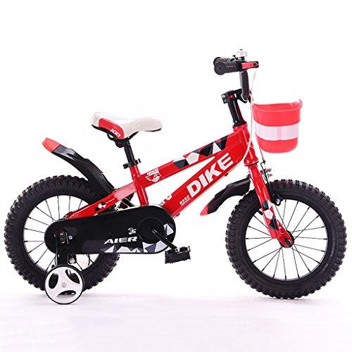 Kinderfahrräder 12/14/16/Zoll 2-5-8 Jahre alt Jungen und Mädchen Kinder Fahrrad Dreirad rot (Size : 14 inches)