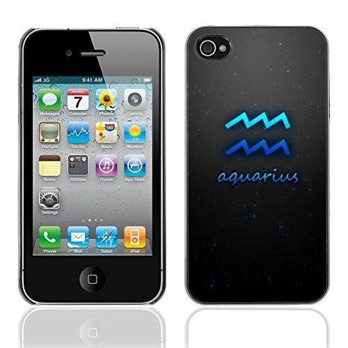 Graphic4You Aquarius Wassermann Horoskop Tierkreis Zeichen Design Harte Hülle Case Tasche Schutzhülle für Apple iPhone 4 und 4S Aquarius #2