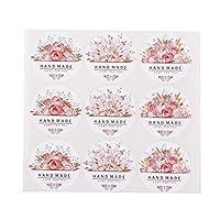HonXins 12sheets(108pcs) Bags Design Flowers Rose Stickers Baking paper craft Label packaging thank you Craft diy Seal kraft