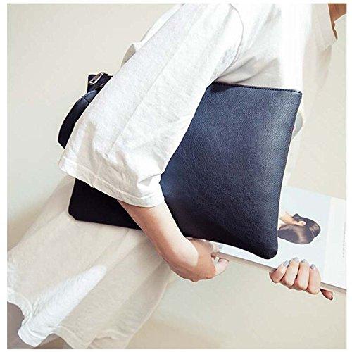 Frau Einfach Leder Schulterpaket, Dxlta Mode Einfarbig Taschen Schwarz
