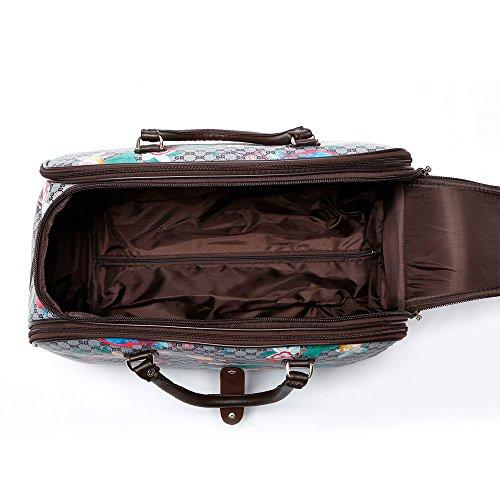 LeahWard Frauen Holdall Gepäcktasche Reisewochenende Handgepäckbeutel Leinentasche Sporttaschen CW388 (Mäuse Maus) Schwarz Schmetterlingsturm Holdall Tasche