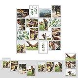 Kunststoff Bilderrahmen Fotorahmen Collage zum individuellen gestalten 16x 13x18cm Weiß mit Normalglas und Klammern