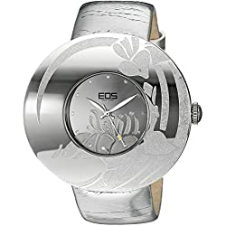 EOS New York Damen 53SSIL Jasmine Silver Leather Strap Armbanduhr