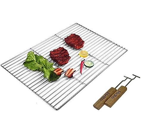 ECD Germany Grille de Barbecue en Acier Inoxydable 54 x 34