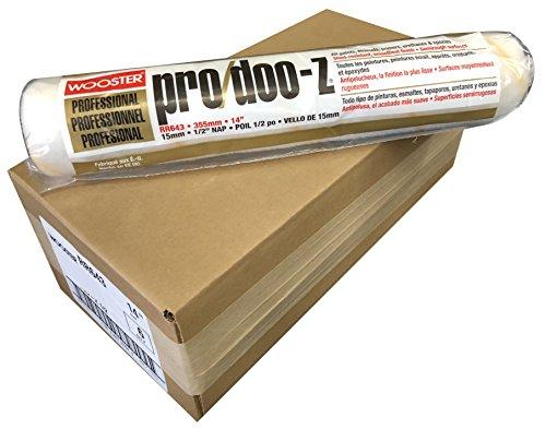 Wooster Pinsel RR643-14pro/doo-z Roller Cover 1/2Zoll Nap, 35,6cm, 6Stück -