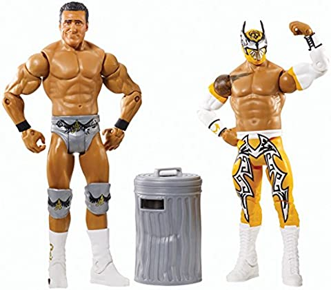 WWE Wrestling Battle Pack SIN CARA VS ALBERTO DEL RIO (Includes Trash Can)