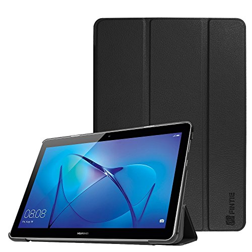 Fintie Huawei Mediapad T3 10 Hülle Case - Ultra Dünn Superleicht Flip Schutzhülle mit Zwei Einstellbarem Standfunktion für Huawei MediaPad T3 (9,6 Zoll) 24,3 cm Tablet-PC, Schwarz