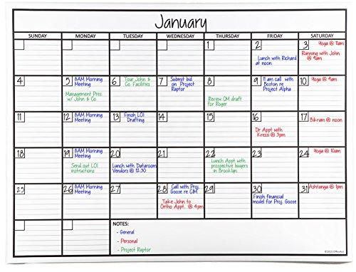 OfficeAid Wandkalender, laminiert, trocken abwischbar Medium (24