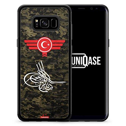 Osmanli Tugrasi Türkiye Türkei Camouflage - SILIKON Handy Hülle für Samsung Galaxy S8 - Case Cover Schutzhülle - Turkey Flagge Flag Military Militär (Camouflage Flagge)