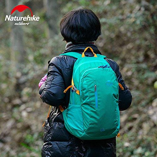 Naturehike Breathable Sportrucksack Camping Tasche Wanderrucksack Rucksack fur die Reise 30L Light Blue
