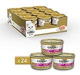 Purina Gourmet Gold Umido Gatto Mousse per Gattini con Vitello, 24 Lattine da 85 g Ciascuna, Confezione da 24 x 85 g