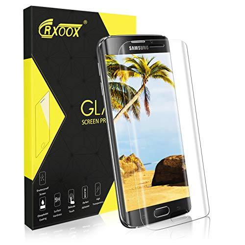 Panzerglas Schutzfolie für Samsung Galaxy S6 Edge, [3D Abgerundete] Displayschutzfolie Panzerglasfolie Transparent, 3D Touch Kompatibel und 9H Härtegrad, Einfach zu Installieren Blasenfrei -