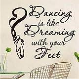 Lvabc Tanzen Ist Wie Dressing Mit Den FüßenZitieren WandaufkleberHome Decor Tanzen Schuhe DiyKunst Kinderzimmer Wandtattoo