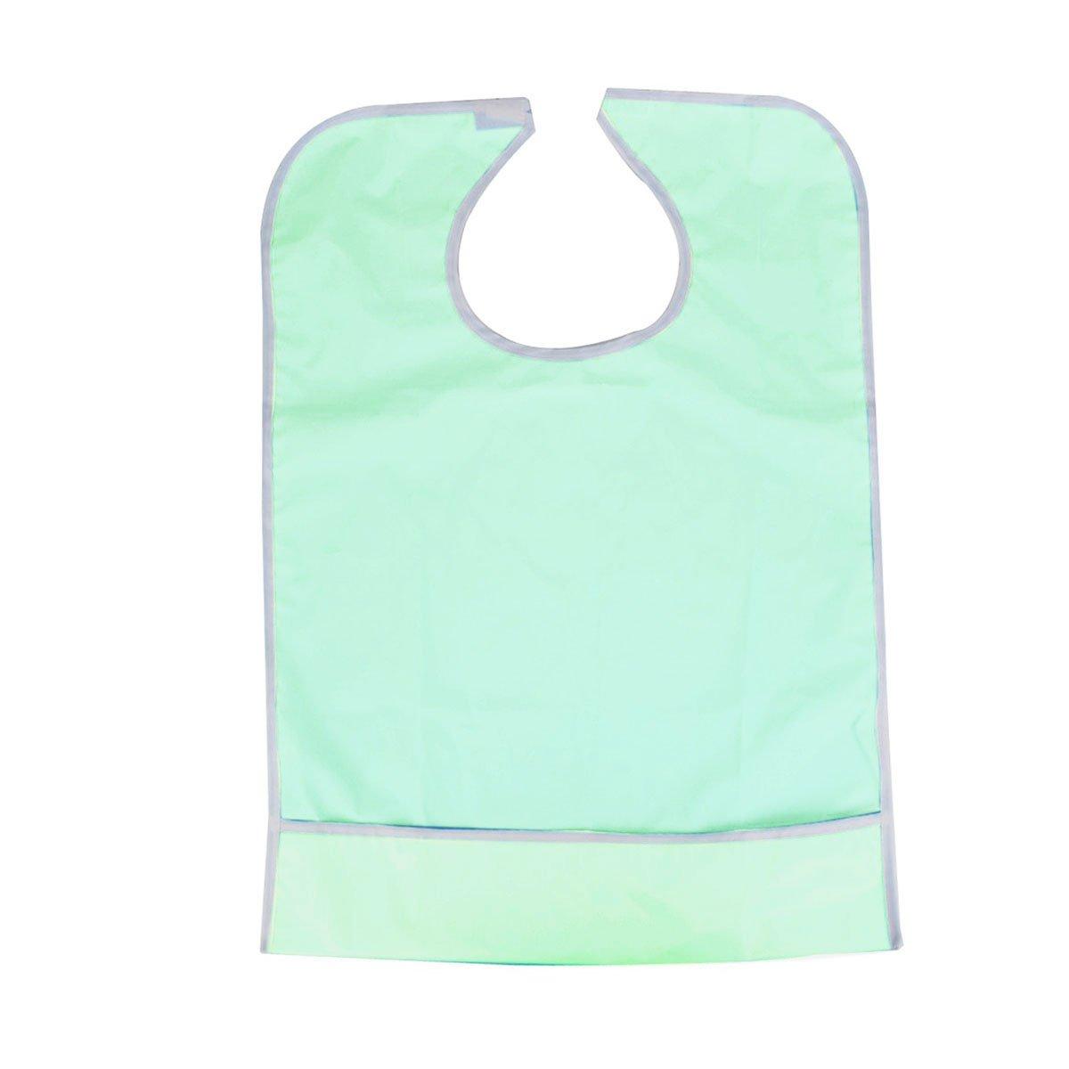 Pixnor impermeabile adulti Mealtime Bib Abbigliamento Schermo (Verde chiaro)