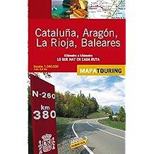 Mapa de carreteras 1:340.000 - Cataluña, Aragón, La Rioja y Baleares (desplegable) (Mapa Touring)