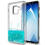 LeYi Case for Galaxy A8 2018 with Screen Protector, Girl