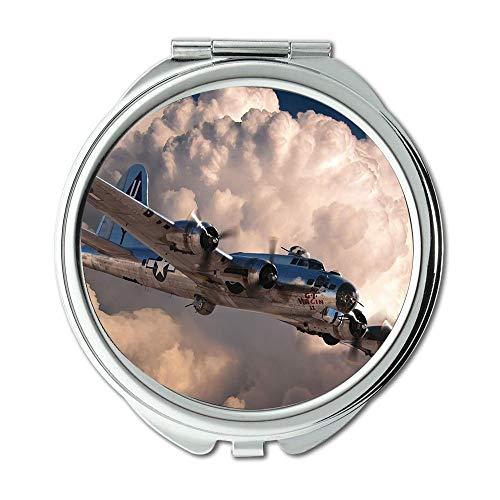 Yanteng Weltkrieg Flugzeuge, Spiegel, Compact Mirror, Jagdführer Pfadfinder, Taschenspiegel, Tragbare Spiegel