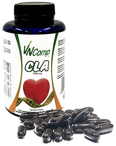CLA 1000 mg 100 cápsulas.Acido linoleico conjugado. Quemador de grasa, VNComp