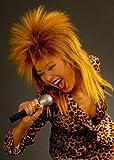 Peluca de la diva de la roca del estilo de Tina Turner de los años 80
